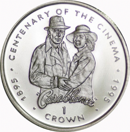 1996 Gibraltar Centenary od Cinema Crown Coin